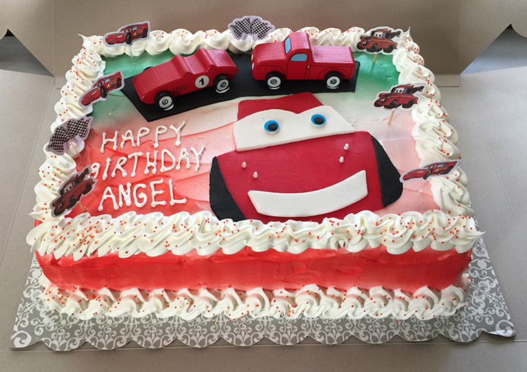 Surprising Cars Lightning Mcqueen Birthday Cake Sweet Tasty Bakery Personalised Birthday Cards Cominlily Jamesorg