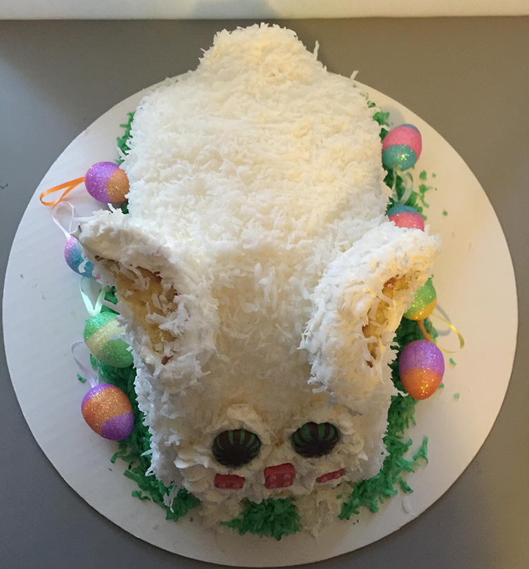"""Easter Bunny Shaped"" Easter Cake"