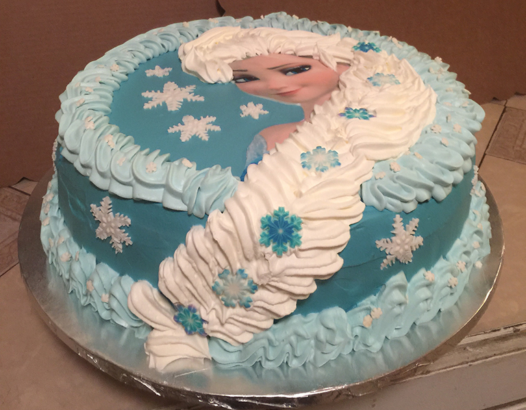 Sensational Frozen Elsa Birthday Cake Sweet Tasty Bakery Funny Birthday Cards Online Unhofree Goldxyz