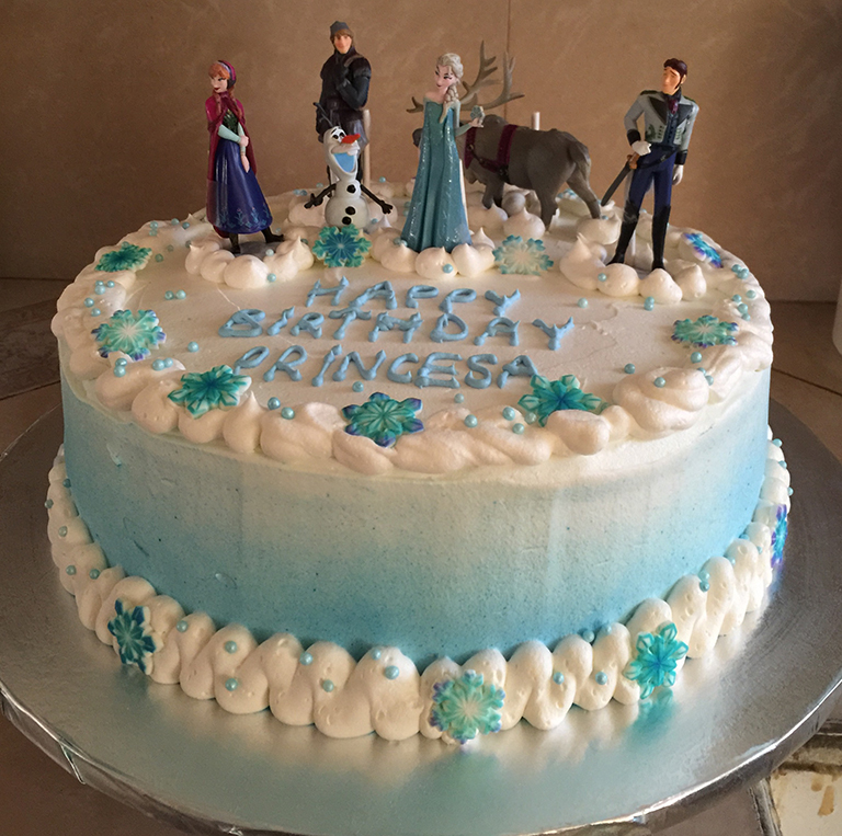 Remarkable Frozen Birthday Cake Sweet Tasty Bakery Birthday Cards Printable Benkemecafe Filternl