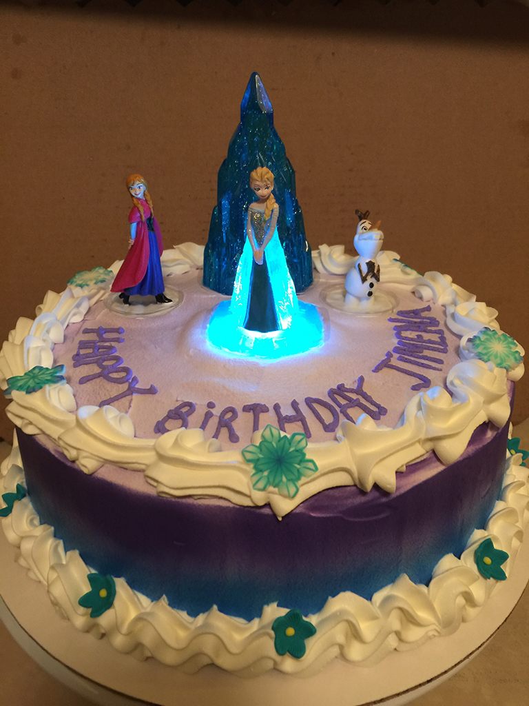 Frozen Light up Elsa Birthday Cake Sweet Tasty Bakery