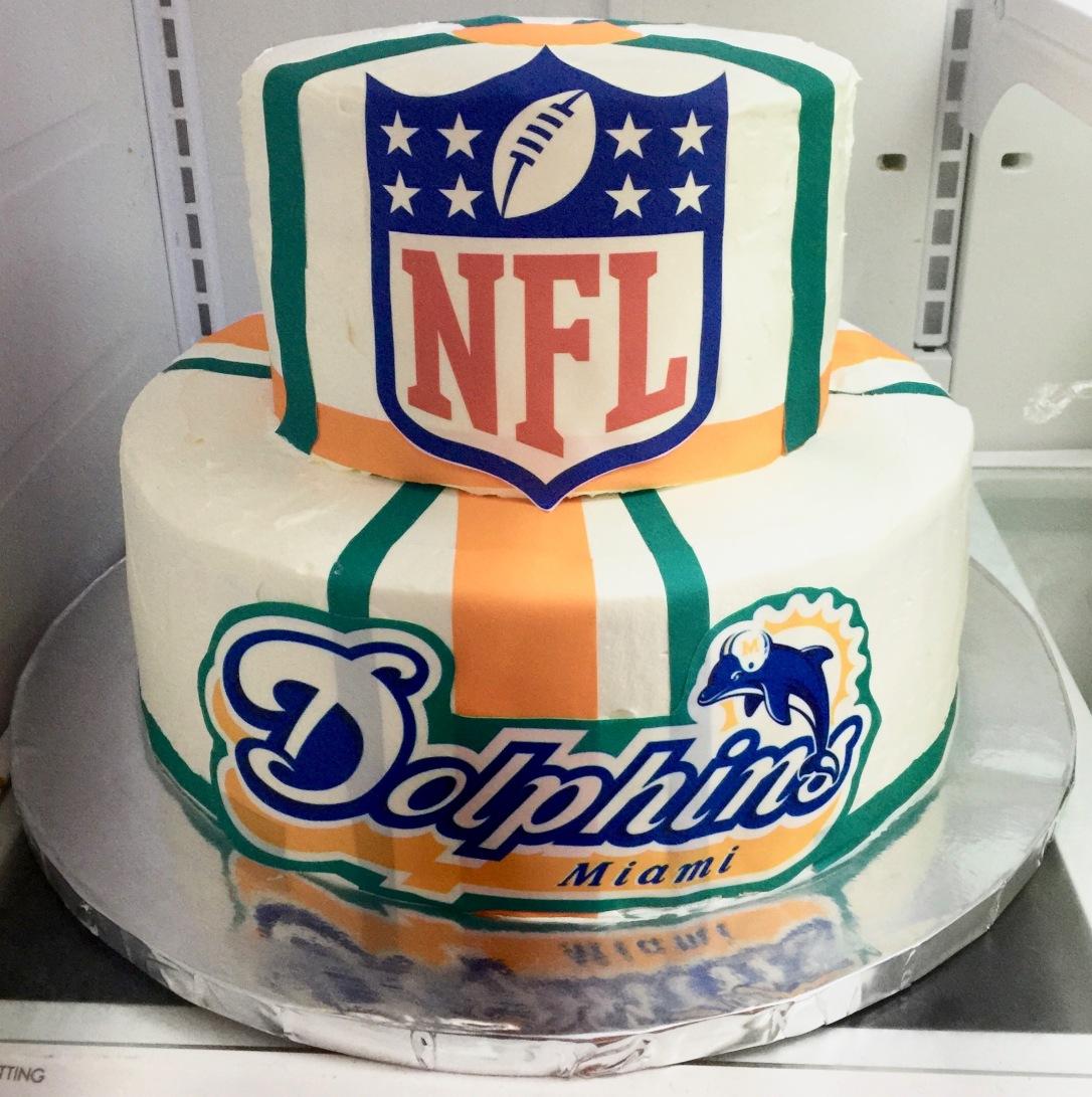 "NFL Miami Dolphins"" Cake"
