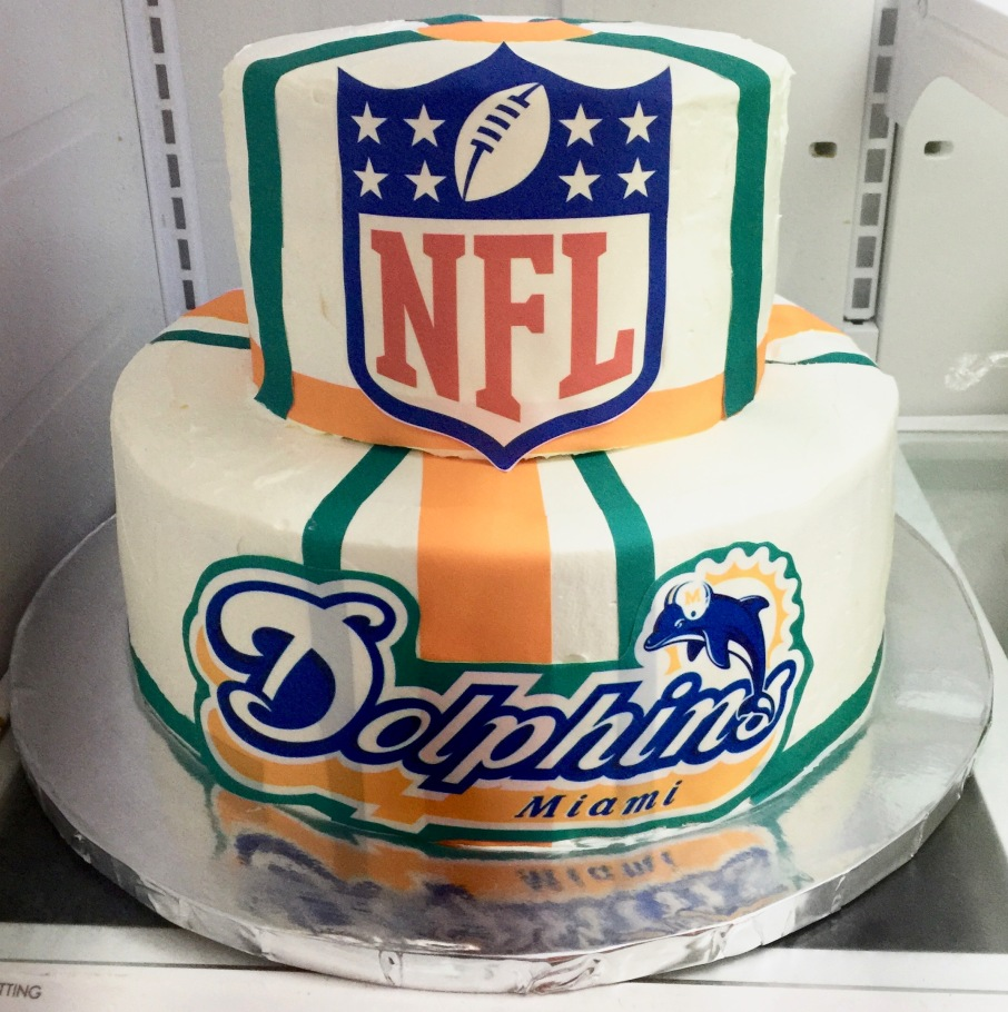 Nfl Miami Dolphins Cake Sweet Tasty Bakery