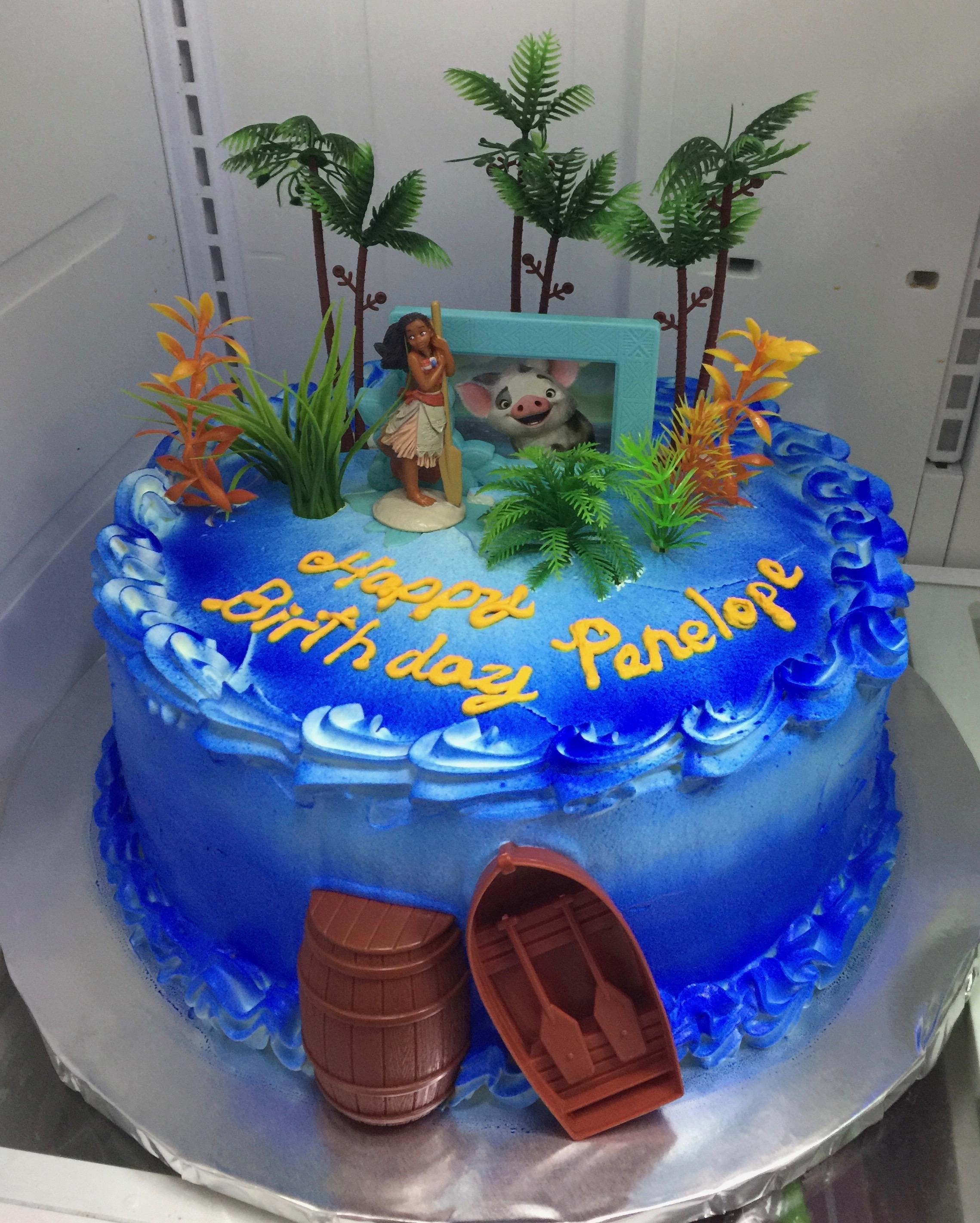 Astonishing Moana Blue Ocean Birthday Cake Sweet Tasty Bakery Personalised Birthday Cards Sponlily Jamesorg