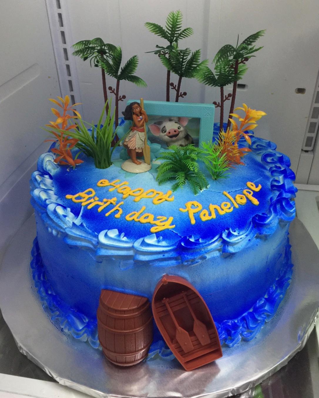"""""""Moana Blue Ocean"""" Birthday Cake"""