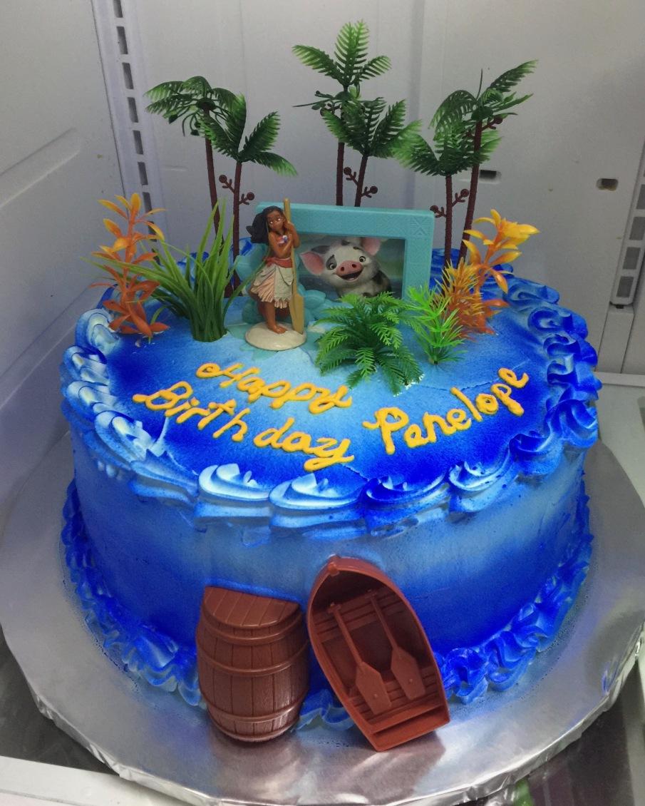 Moana Blue Ocean Birthday Cake Sweet Tasty Bakery