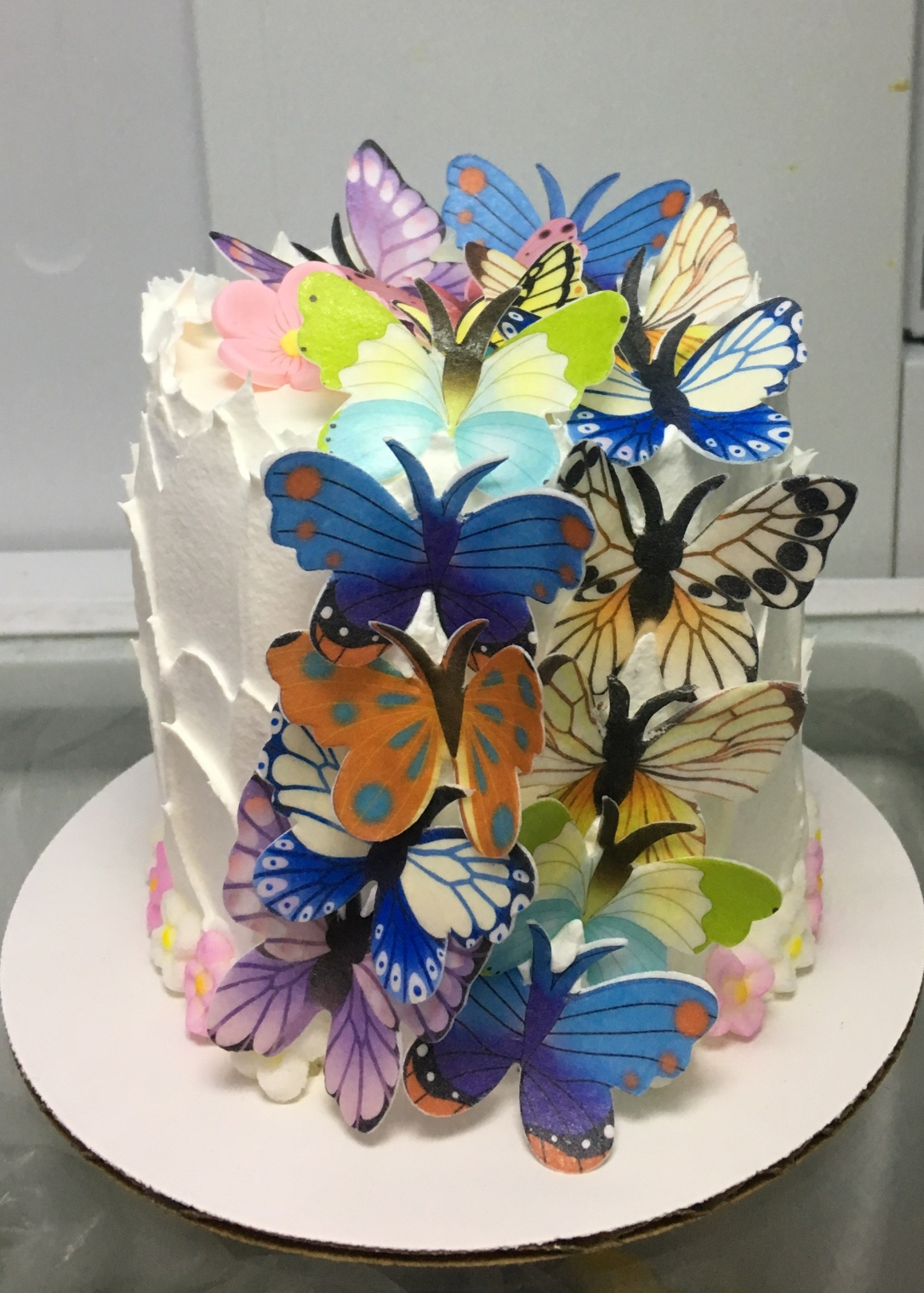 """Butterflies"" Birthday Cake"