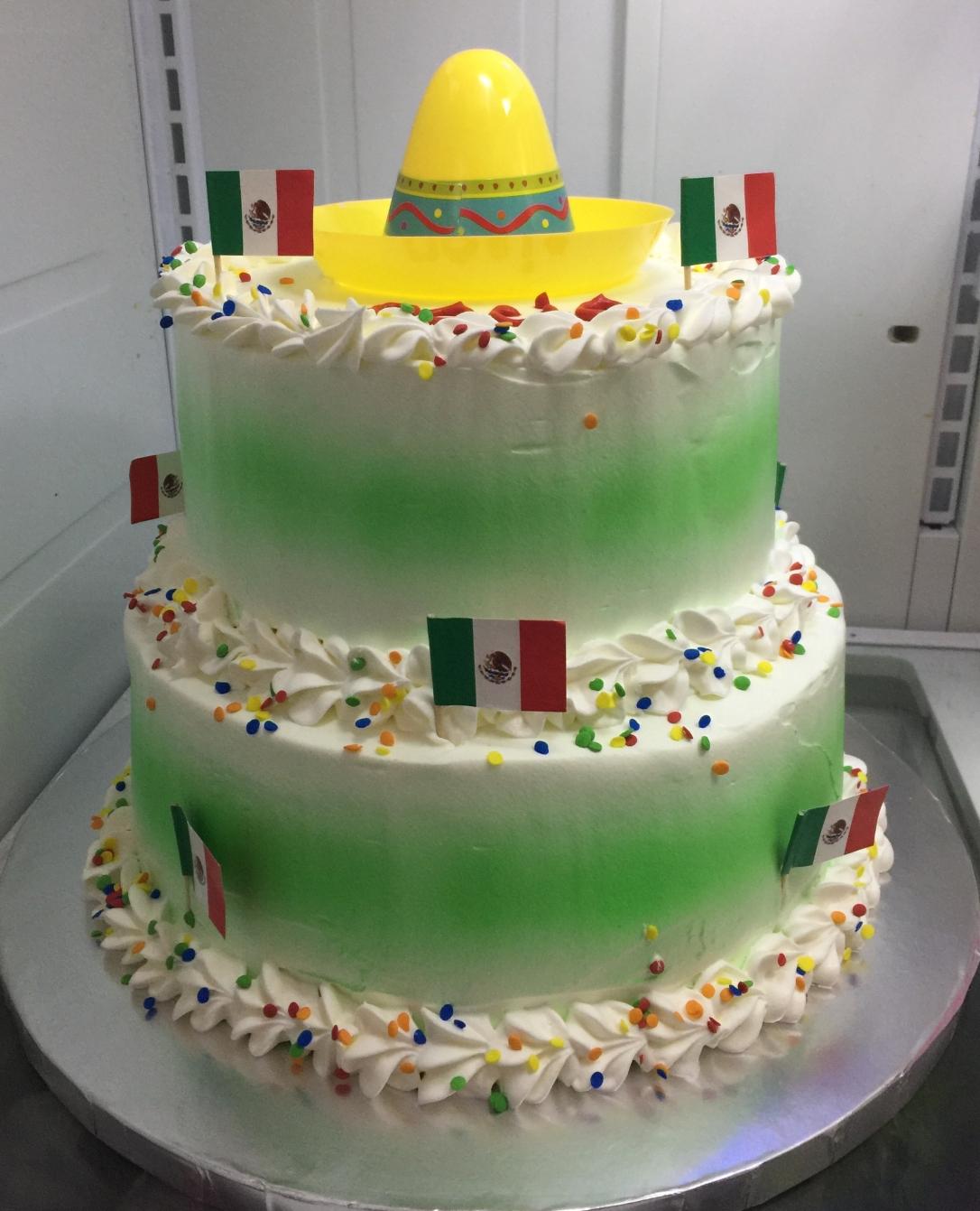 """""""Mexican Sombrero Fiesta"""" Cake"""