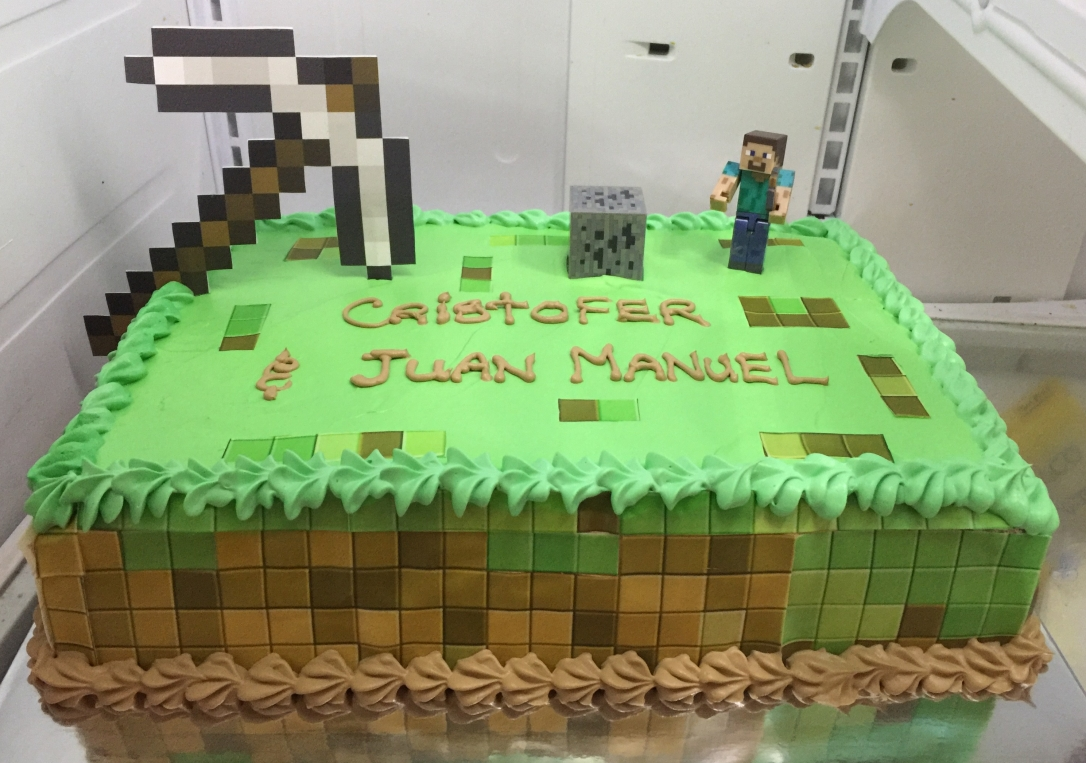 """Minecraft"" Birthday Cake"