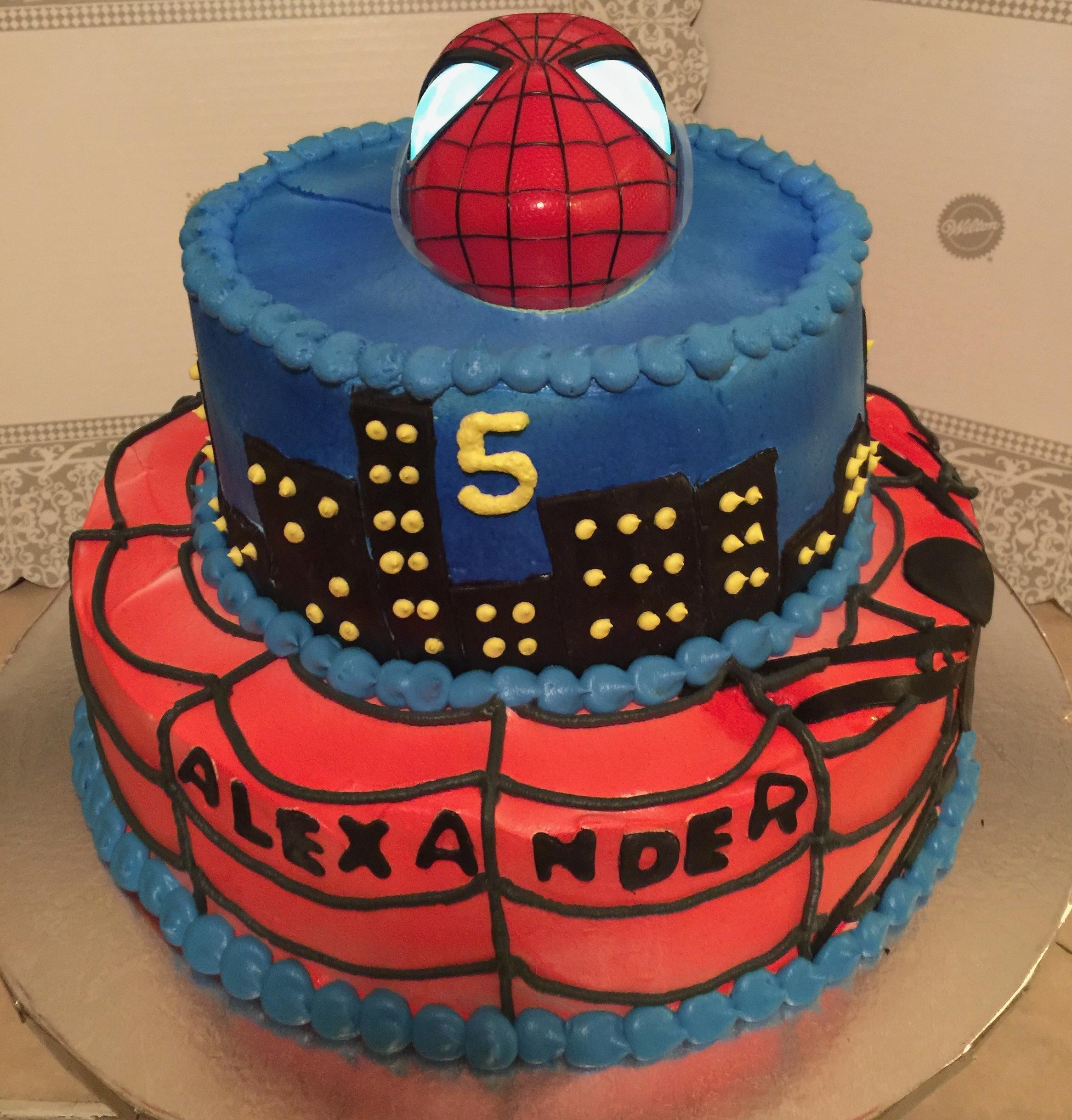 """Spider-Man Light Up Eyes"" Cake"