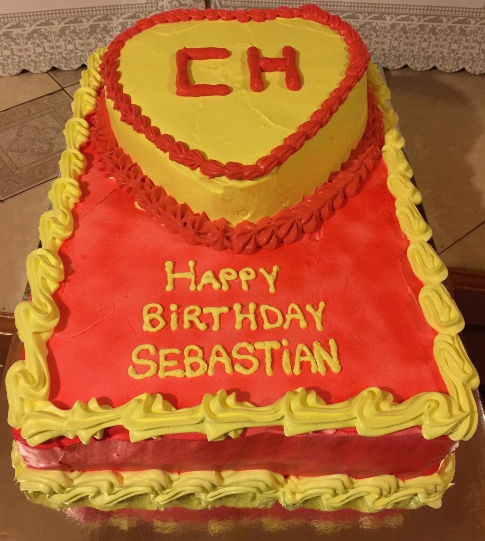 """Chapulin Colorado"" Birthday Cake"