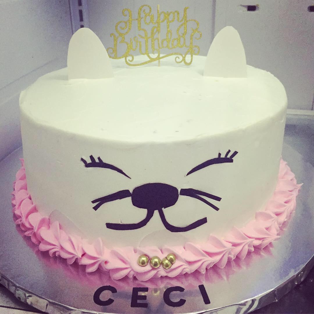 """""""Kitty Cat"""" Birthday Cake"""