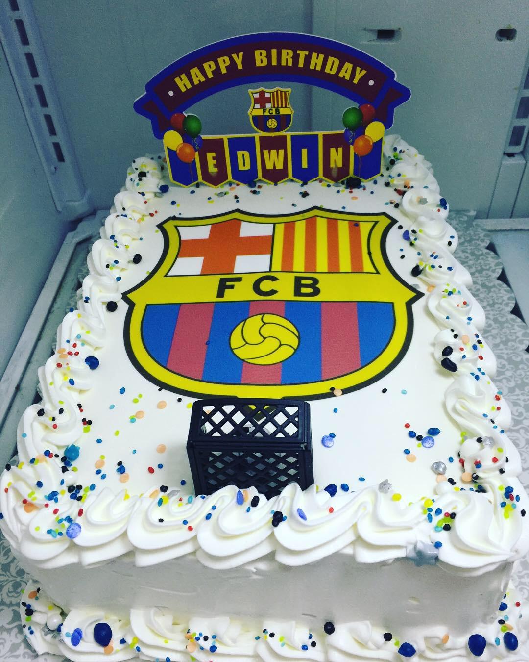 """FC Barcelona"" Birthday Cake"