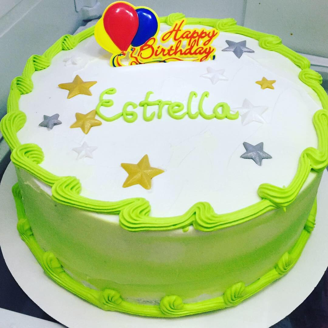 """Lime Green"" Birthday Cake"