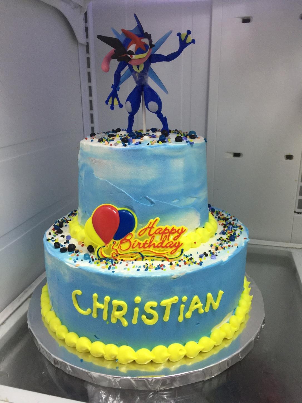 """Pokemon Greninja"" Birthday Cake"