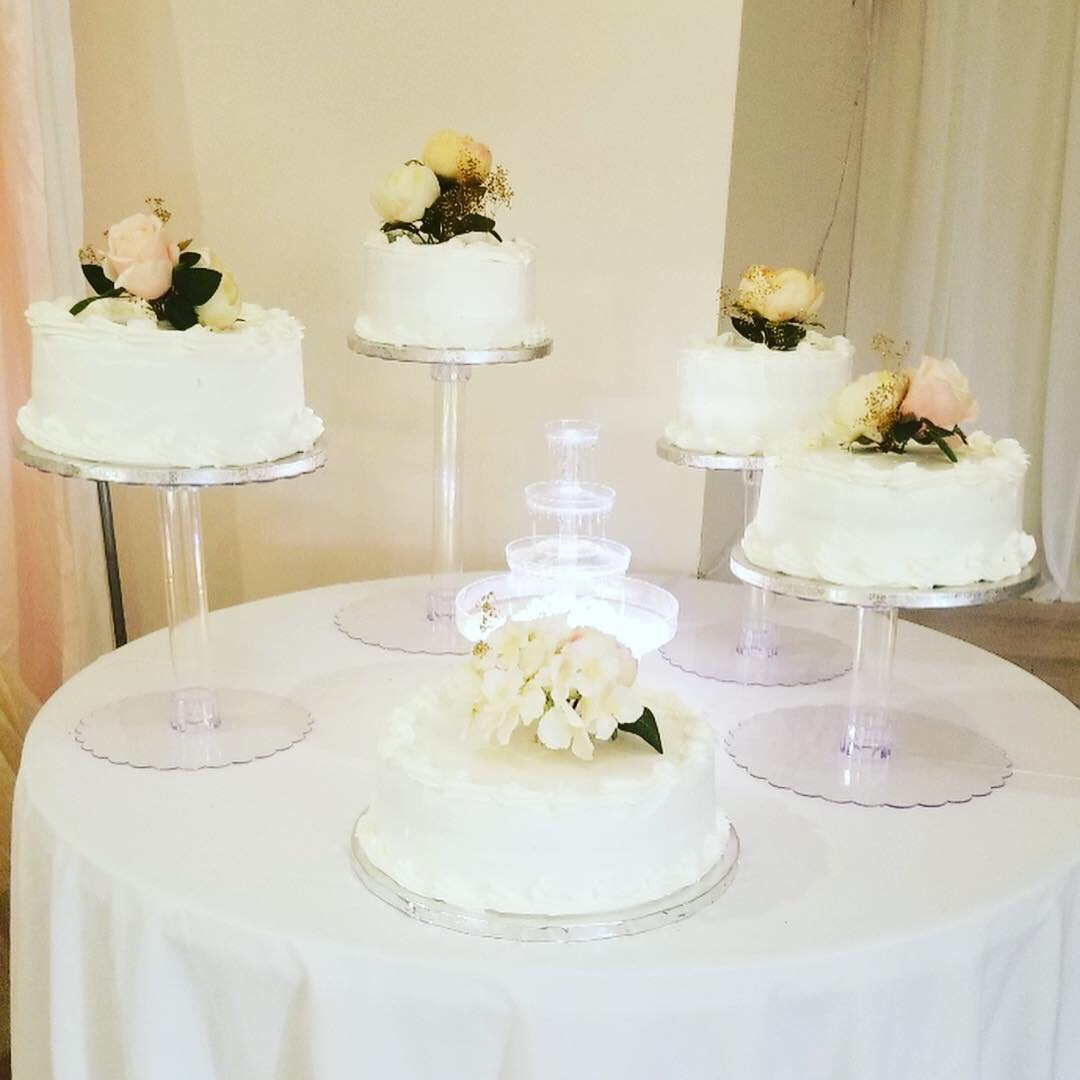 """White & Soft Pink Roses"" Wedding Cakes"