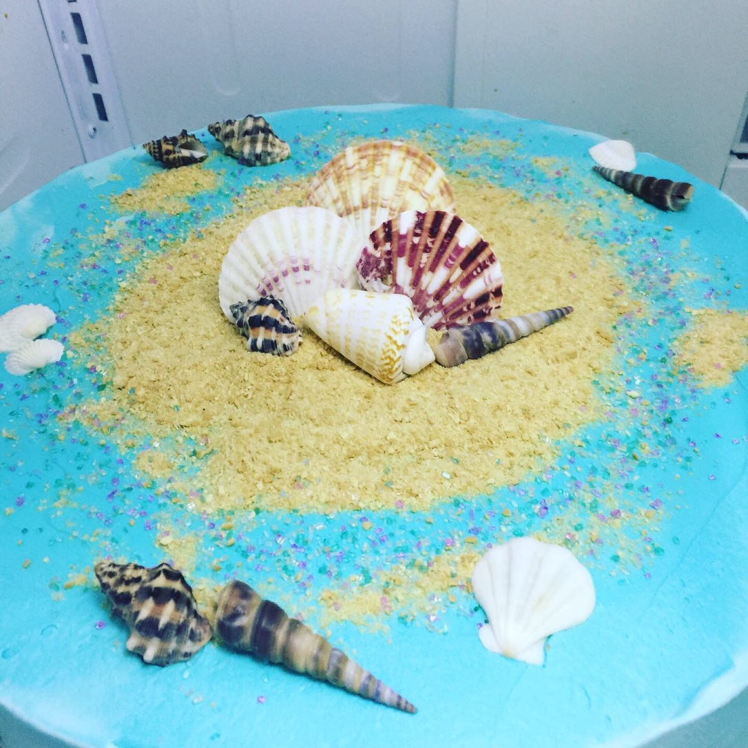"""Ocean Seashells"" Birthday Cake"