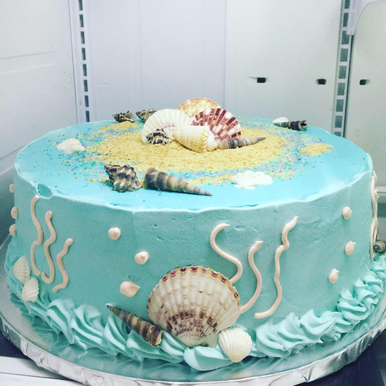 """Ocean Seashells"" Birthday Cake"