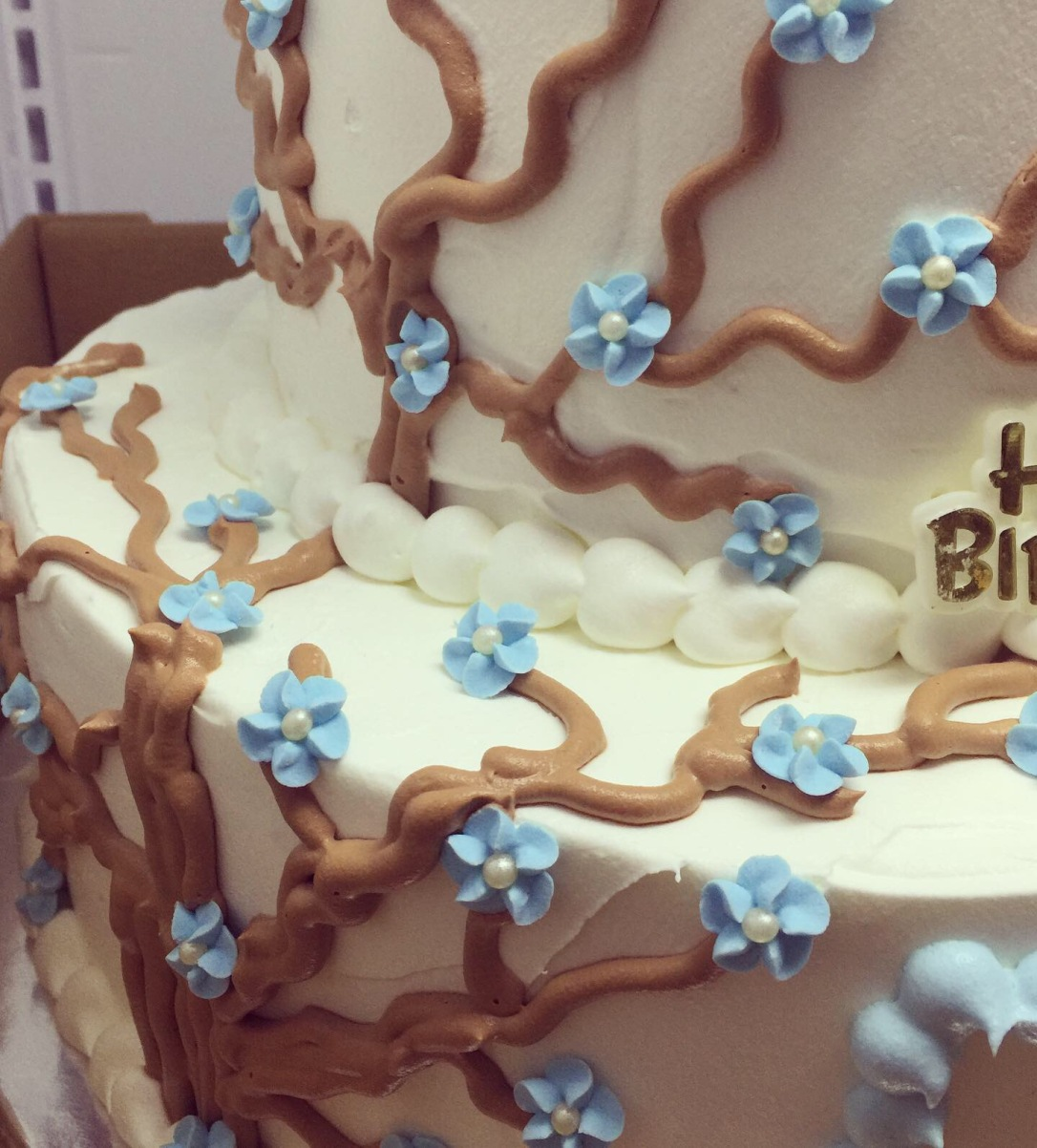 """18th Flowers & Thorns"" Birthday Cake"