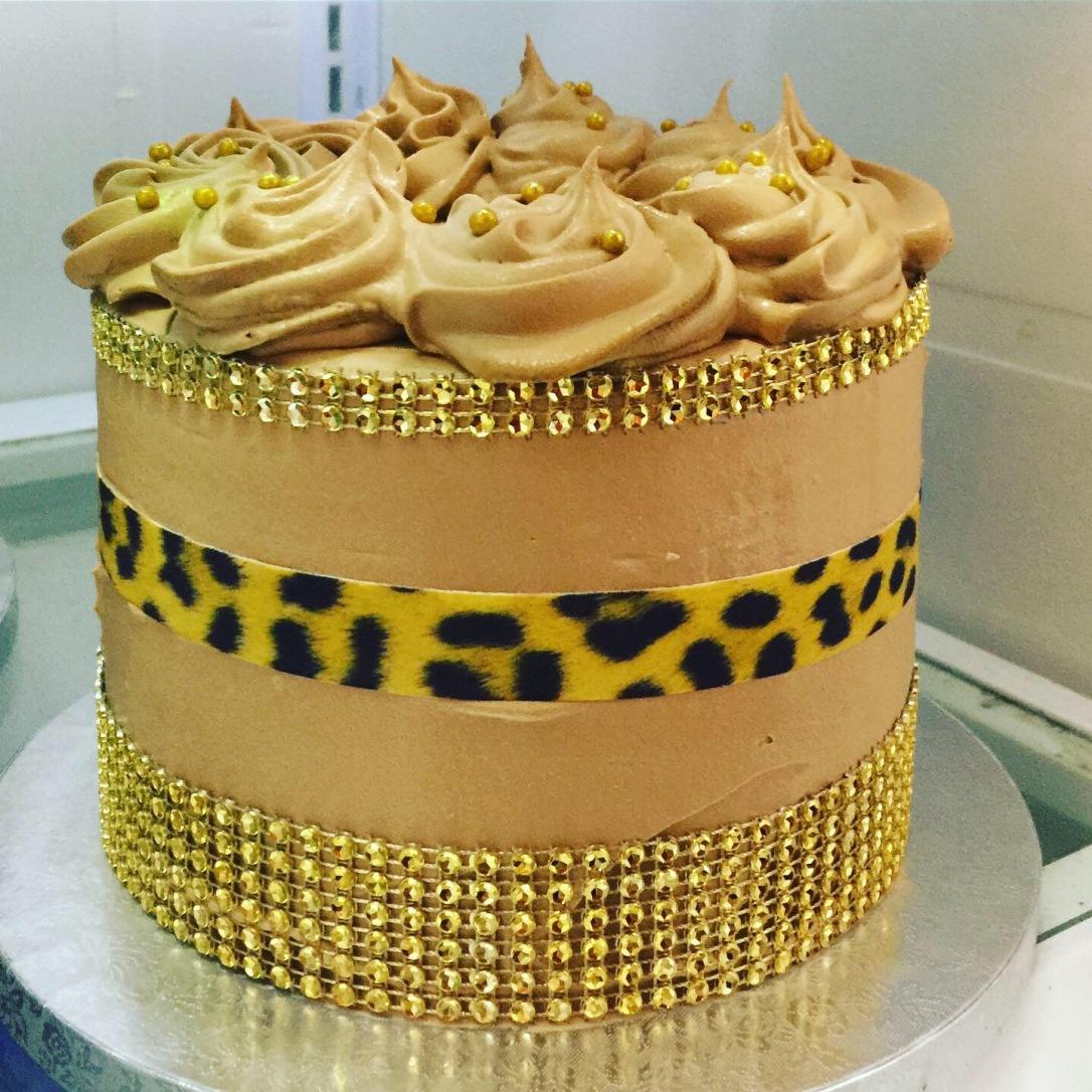 """Leopard Print"" Birthday Cakes"
