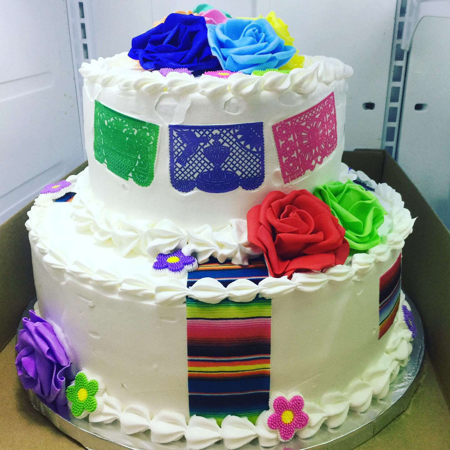 """Mexican Fiesta"" Wedding Cake"